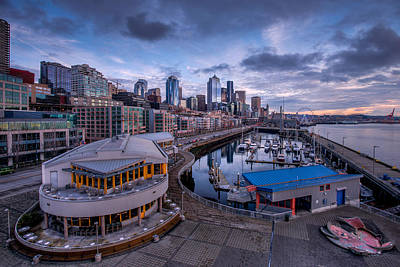 Photograph - Seattle Bell Street Pier by Dan Mihai