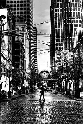 Monotone Photograph - Seattle Brick by David Patterson