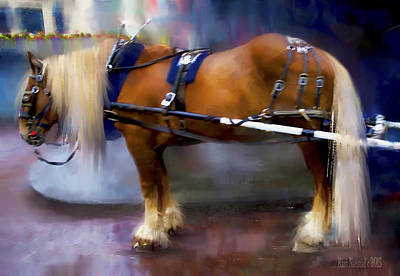 Digital Art - Seattle Carriage Horse by Kari Nanstad