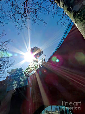 Photograph - Seattle Center Rays by Chris Anderson