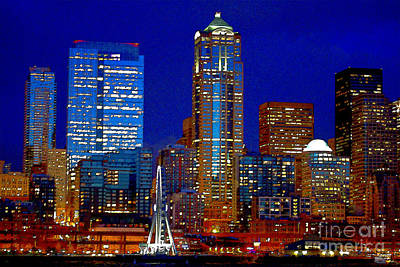 Photograph - Seattle City Scape by Marie Jamieson