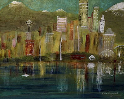 Seattle Cityscape Art Print
