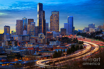 Architecture Photograph - Seattle Downtown by Inge Johnsson