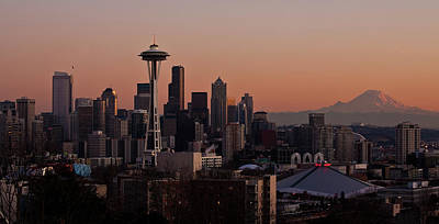 Photograph - Seattle Evening Mood by Mike Reid