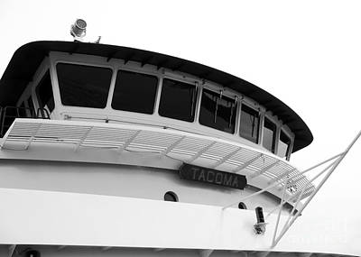 Photograph - Pilothouse Of The Tacoma by Connie Fox