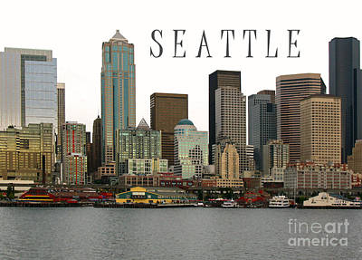 Photograph - Seattle Ferry Piers Poster by Connie Fox