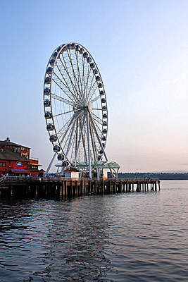 Photograph - Seattle Great Wheel by Kristin Elmquist