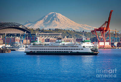 Seattle Harbor Art Print by Inge Johnsson