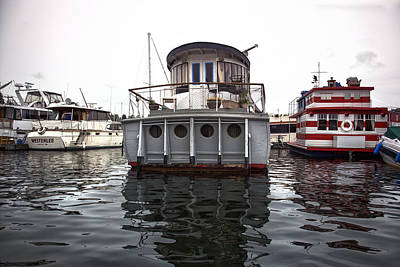 Digital Art - Seattle House Boats by Susan Stone