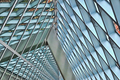 Photograph - Seattle Library Reading Room 3 by Allen Beatty