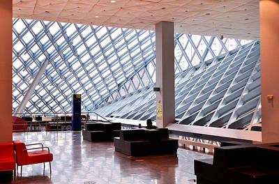 Photograph - Seattle Library Reading Room by Allen Beatty