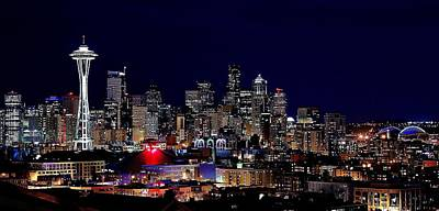 Photograph - Seattle Lights by Benjamin Yeager