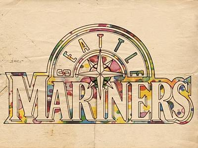Painting - Seattle Mariners Poster Art by Florian Rodarte