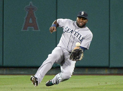 Photograph - Seattle Mariners V Los Angeles Angels by Harry How