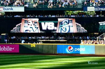 Photograph - Seattle Mariners Vs Oakland A's by Sadie Reneau