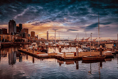 Seattle Marinescape. Art Print