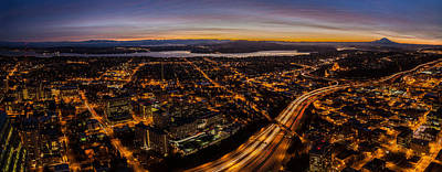 Seattle Morning View East Art Print by Mike Reid