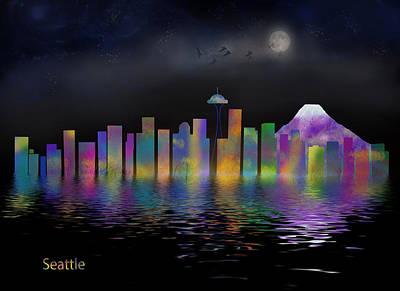 Seattle Art Print by Nichon Thorstrom