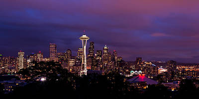 Building Photograph - Seattle Night by Chad Dutson