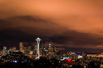 Photograph - Seattle Night by Dustin  LeFevre