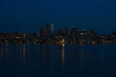 Photograph - Seattle Night Skyline by Tikvah's Hope
