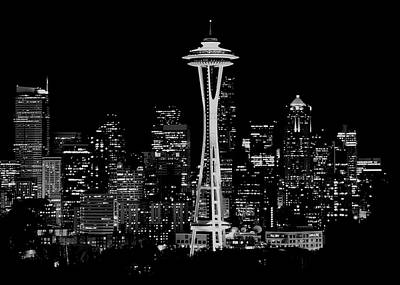 Photograph - Seattle Nightscape by Benjamin Yeager