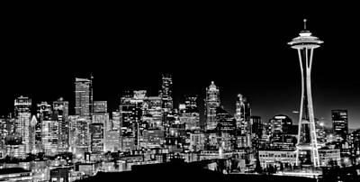 Seattle Nightscape Art Print by DMValdez Photography