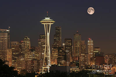 Photograph - Seattle Nocturne by Winston Rockwell