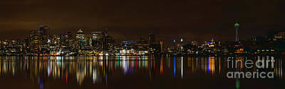 Seattle Panorama Art Print by Eddie Yerkish