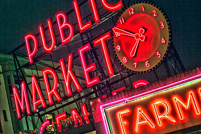 Seattle Pike Street Market Art Print