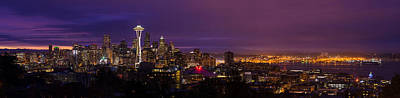 Photograph - Seattle Pre Sunrise  by Mike Reid