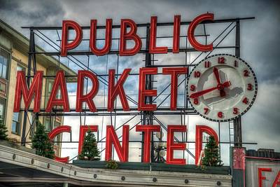 Photograph - Seattle Public Market Sign by Spencer McDonald