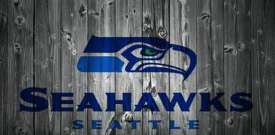 Seattle Seahawks Barn Door Art Print by Dan Sproul