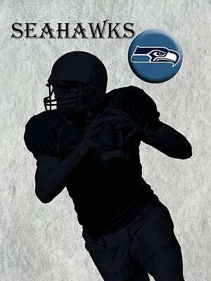 Seattle Seahawks Football Art Print by David Dehner