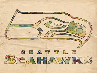 Painting - Seattle Seahawks Logo Poster by Florian Rodarte