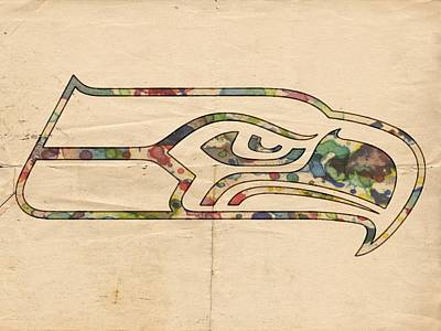 Painting - Seattle Seahawks Poster Art by Florian Rodarte