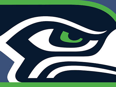 Washington Wall Art - Painting - Seattle Seahawks by Tony Rubino
