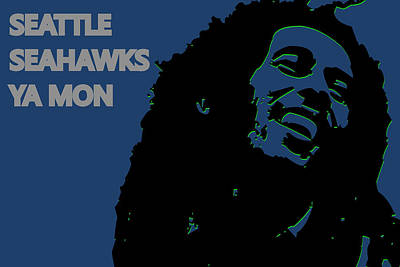 Seattle Seahawks Ya Mon Print by Joe Hamilton