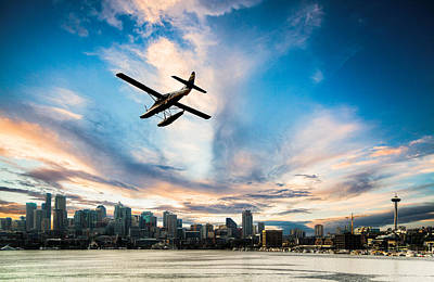 Flying Photograph - Seattle Short Final by Peter Irwindale