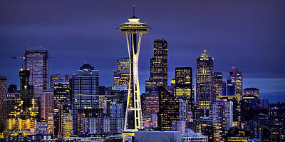 Space Needle Wall Art - Photograph - Seattle Skies by Ryan Smith