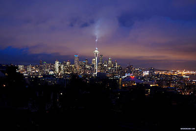Seattle Sky Original by Mat Luschek