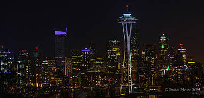 Keith Richards - Seattle Skyline 1 by Cassius Johnson