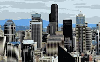 Photograph - Seattle Skyline by A K Dayton