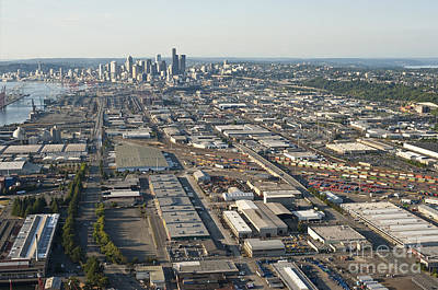Photograph - Seattle Skyline And South Industrial Area by Jim Corwin