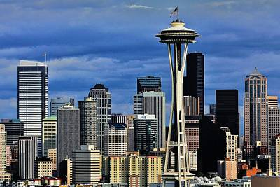 Photograph - Seattle Skyline by Benjamin Yeager