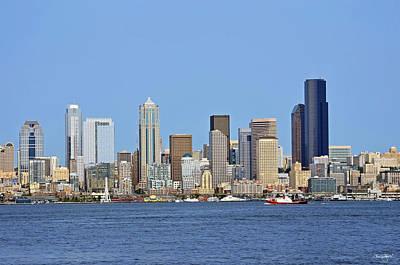 Photograph - Seattle Skyline From Alki by Shanna Hyatt