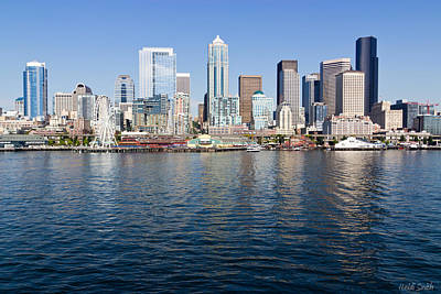 Photograph - Seattle Skyline by Heidi Smith