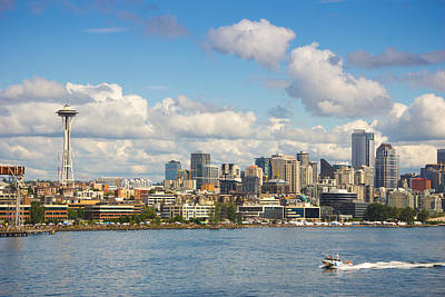 Art Print featuring the photograph Seattle Skyline by Janis Knight