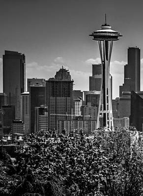Photograph - Seattle Skyline Left Side Triptych by TK Goforth