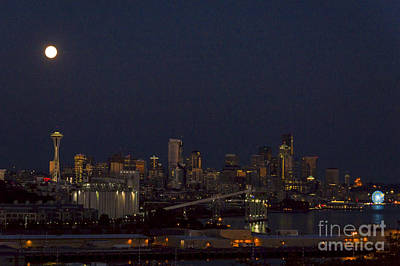 Photograph - Seattle Skyline by Louise Magno